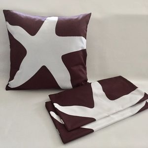 Other - Starfish brown n white pillow covers. Set of 3